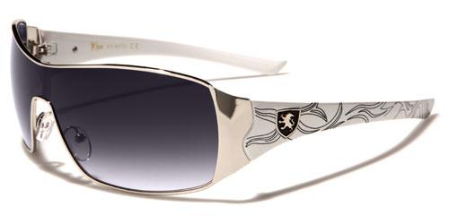 NEU Khan rechteckige Schild gewickelt Herren Sonnenbrille fahren UV zLzrEj8